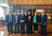 Photo of Meeting of Archbishop Makarios with delegation of the Armenian National Committee of Australia