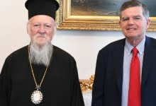 Photo of Ecumenical Patriarch met Civil Governor of Mount Athos in the Phanar