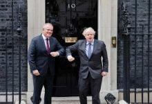 Photo of Scott Morrison and Boris Johnson strike Australia-Britain free trade deal over dinner