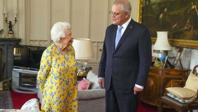 Photo of Queen Elizabeth II receives Scott Morrison at Windsor Castle