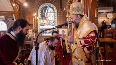 Photo of Ordinations in Sydney of a Priest and Deacon and the elevation to a  Spiritual Father