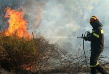 Photo of Ηigh alert against unfolding forest fire at Zeria, Achaia